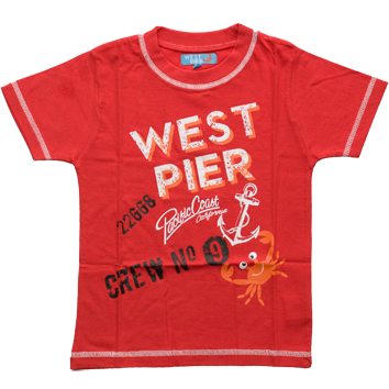Boys West Pier T-Shirts (6-23mnths 6 Pack) - (2-6yrs 6 Pack)