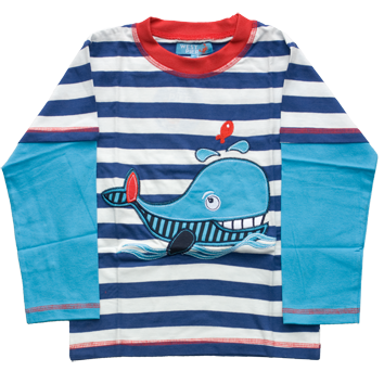 Boys Yarn Dyed Whale T-Shirts (6-23mnths 6 Pack) - (2-6yrs 6 Pack)