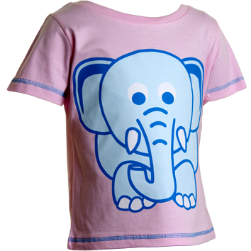 Elephant T-Shirts - Pink (6-23mnths 6 Pack) - (2-6yrs 6 Pack)