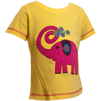 Elephant T-Shirts - Yellow (6-23mnths 6 Pack)