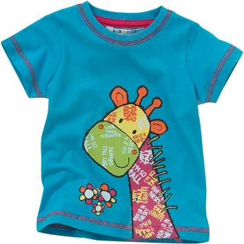 Giraffe T-Shirts - Green (6-23mnths 6 Pack)