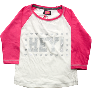 Girls 80s Pop 3/4 Sleeved Tops (1-3yrs 6 Pack) - (3-7yrs 8 Pack)