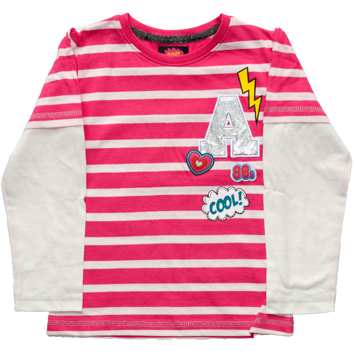 Girls 80s Pop Long Sleeved Top (2-6yrs 8 Pack)