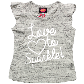 Girls 80s Pop Love To Sparkle Top (2-6yrs 8 Pack)