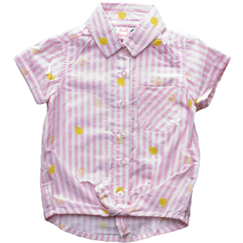 Girls Tie Front Shirt (2-7yrs 10 Pack)