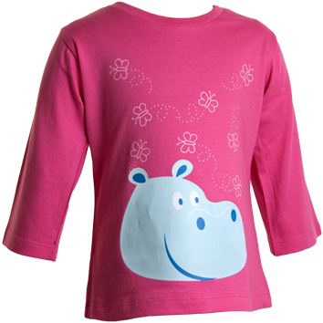 Hippo 3/4 Sleeved T-Shirts (6-23mnths 12 Pack) - (2-6yrs 6 Pack)