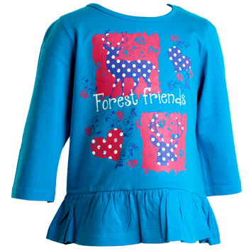 Girls 3/4 Sleeved (6-23mnths 6 Pack) - (2-6yrs 6 Pack)