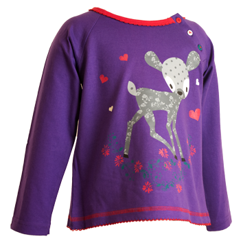 Girls Fawn Print Top (6-23mnths 6 Pack) - (2-6yrs 6 Pack)